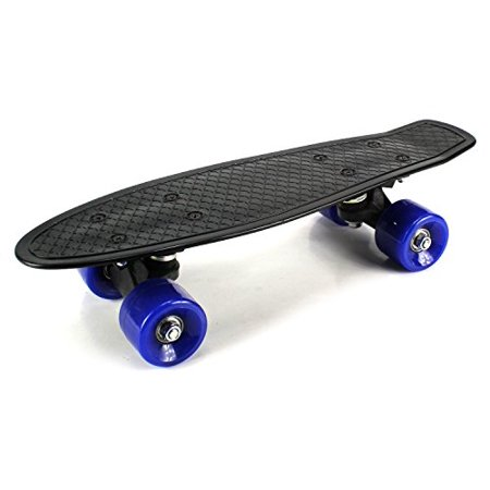 Mini Smooth Ride Cruiser Complete 17  Banana Skateboard W  54Mm Wheels  Abec 7 Bearings  Black