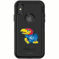 Kansas Jayhawks OtterBox iPhone X/XS Defender Phone Case - Black - No Size