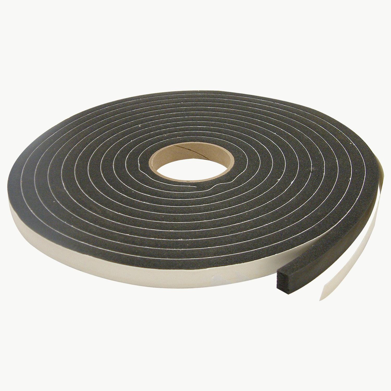 JVCC SCF-01 Single Coated PVC Foam Tape: 1/4 in. thick x 1 in. x 35 ft. (Black)
