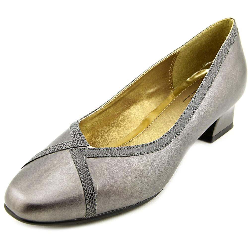 Soft Style by Hush Puppies Lanie Women WW Round Toe Synthetic Gray Heels