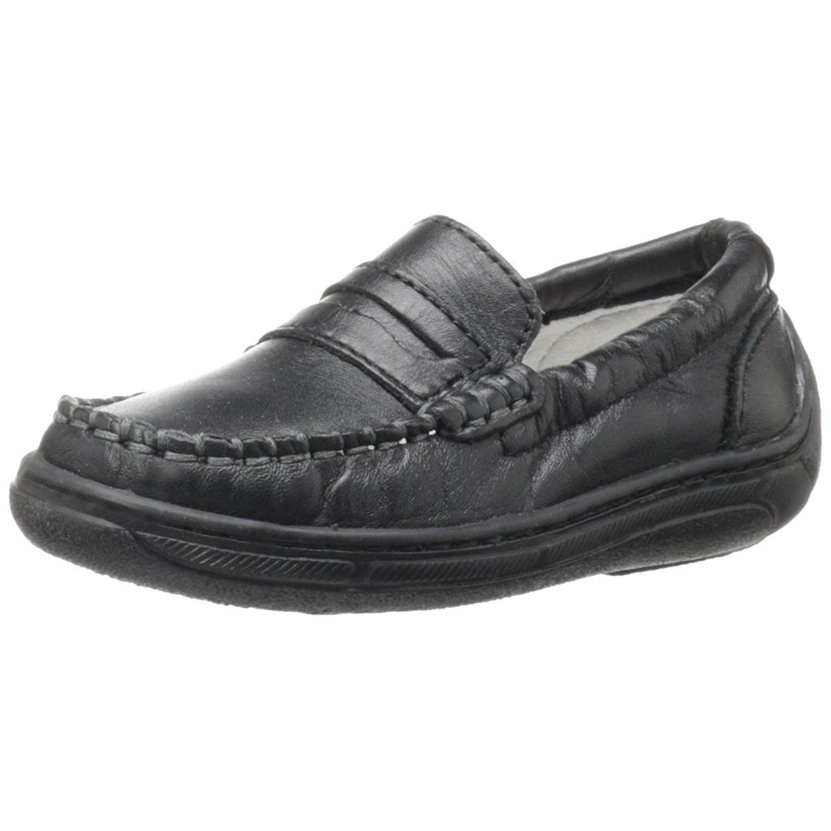 Primigi Toddler Choate-E Black Leather Slip-On Loafers by Primigi