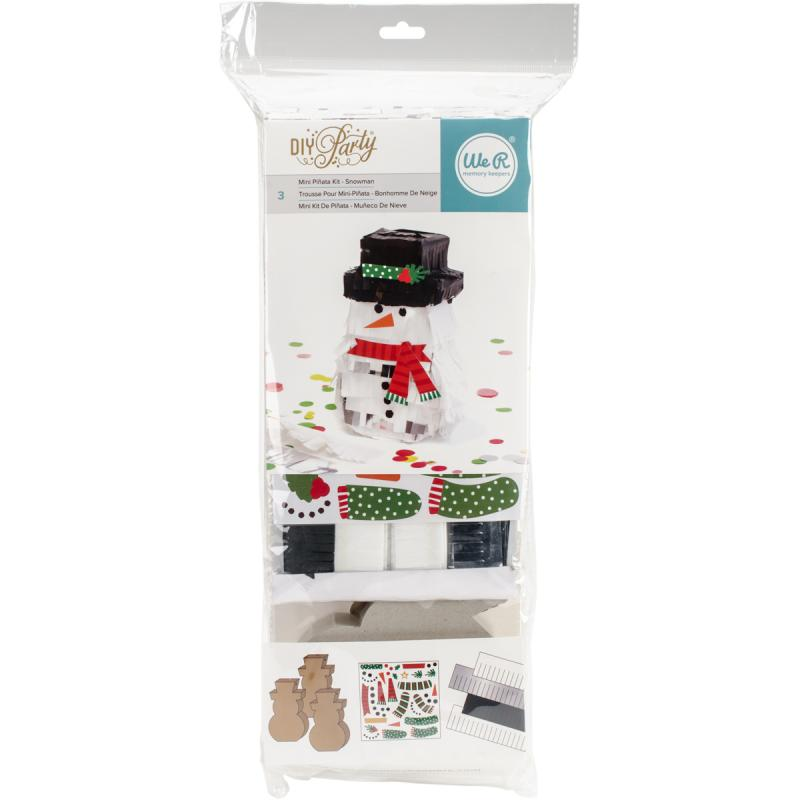 We R Diy Party Mini Pinata 3/pkg-snowman