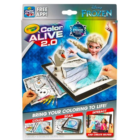 Crayola Color Alive 20 Frozen Coloring Book Set With App 16 Pages