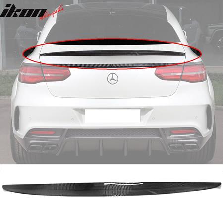 Fits 16-18 Benz GLE Class C292 Coupe Ikon Style Carbon Fiber (CF) Trunk Spoiler Csl Style Carbon Fiber Trunk