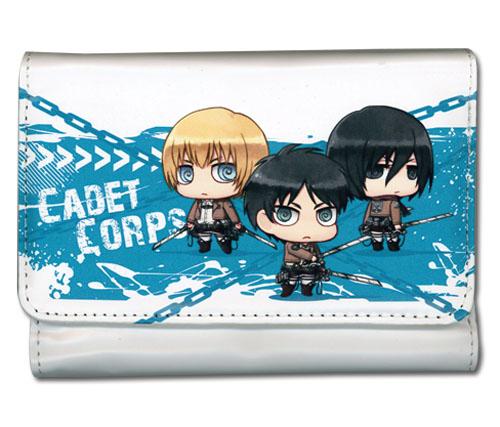 Wallet - Attack on Titan - SD Armin Eren Mikasa Cadet Corps Girl's Style ge61890