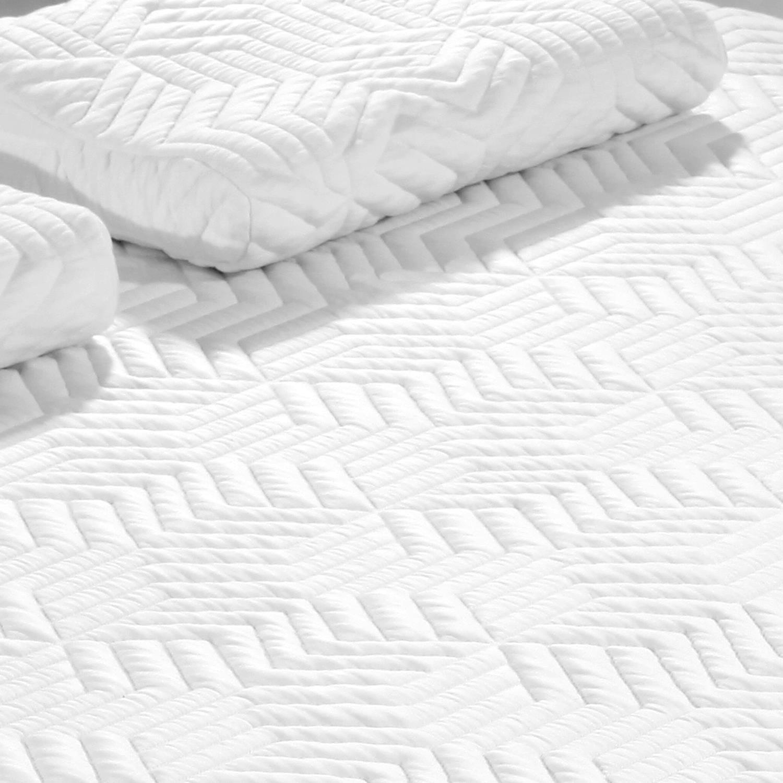 Ktaxon 14 Inch 3 Layer Mattress COOL Medium -firm Home Bed Queen Size Bonus With 2 Pillow