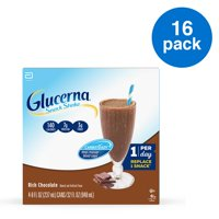 Glucerna Snack Shake, 16 Shakes, Diabetes Nutritional Shake with CARBSTEADY to Help Manage Blood Sugar, 7g of Protein, and 3g of Fiber, Rich Chocolate, 8 fl oz