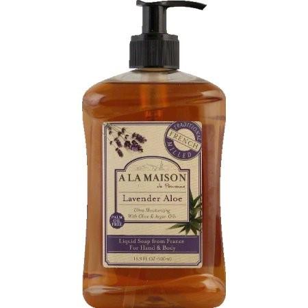 A La Maison de Provence French Liquid Soap, Lavender Aloe, 16.9 Fl Oz