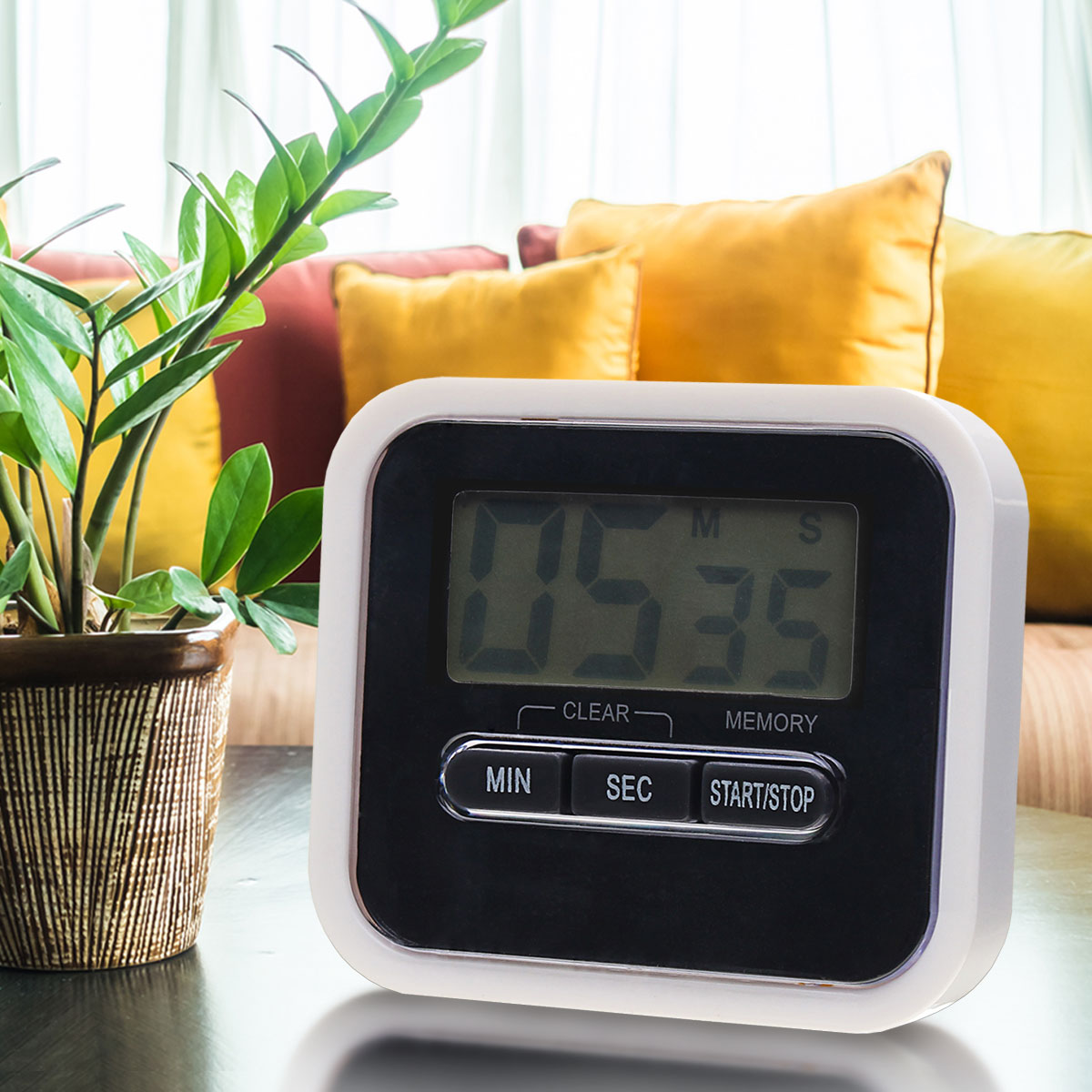LCD Display Digital Home Kitchen Cooking Timer Alarm Count UP Down Clock Alarm