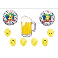 BEER 21st BIRTHDAY PARTY Balloons Decorations Supplies