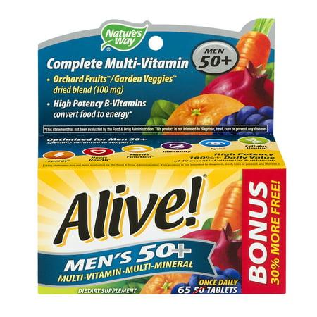 Image of Nature's Way Alive! Complete Multi-Vitamin Men 50+ - 65 CT