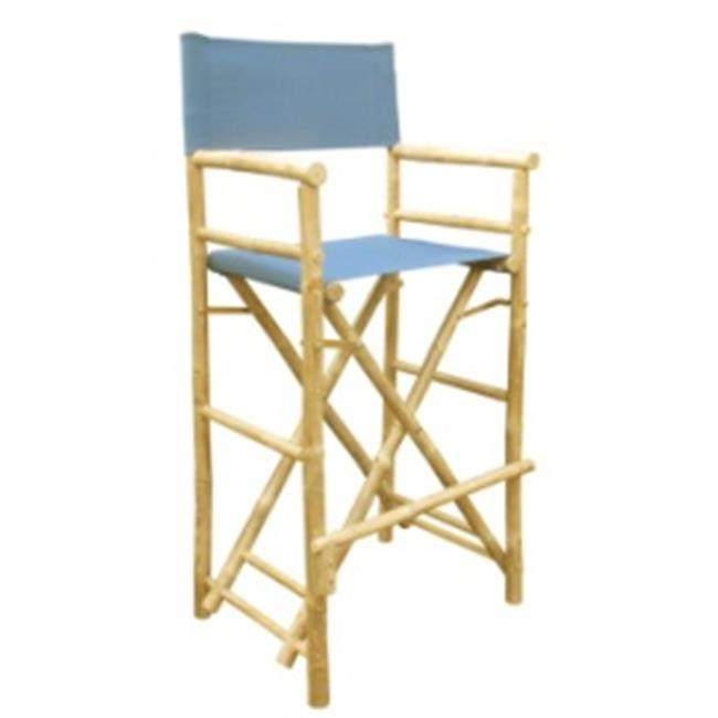 ZEW CH-192-0-12-Bamboo High Director Chair - Navy- SET 2