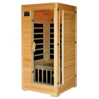 Radiant Saunas Radiant Saunas 1-2-Person Infrared Sauna Room with 4 Low-EMF Carbon Heaters, Audio System, Canadian Hemlock