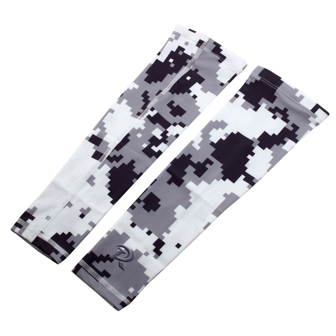 Sports Elbow Brace Wrap Sweat-absorption Arm Sleeves Support Camouflage XL Pair - image 5 de 5