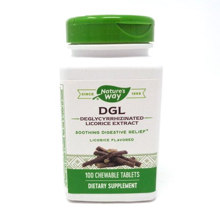 Enzymatic Therapy DGL Chewable Tablet, 100 Count