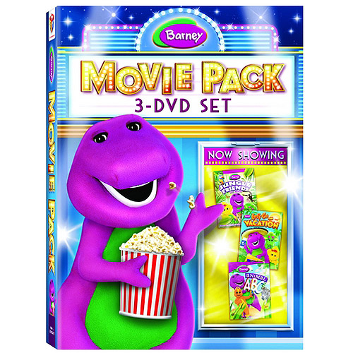 Barney Movie Pack: Jungle Friends / Let's Go On Vacation / Animal ABCs (Full Frame)