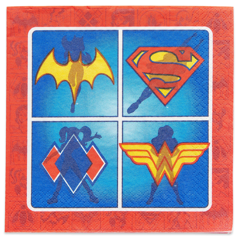 DC Super Hero Girls 2 Lunch Napkins, 16-Count