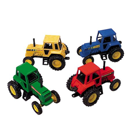 Tractor- Die Cast Metal - Pull Back and Go - (RED), The wheels on the tractor go 'round and 'round. Pull back on the die-cast tractor and watch it zoom ahead. Each.., By DOMAGRON