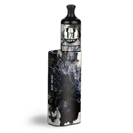 Skin Decal Vinyl Wrap for Aspire Zelos 50W starter Kit Vape Skins Stickers Cover / Black White Swirls Marble - Kit Gunite