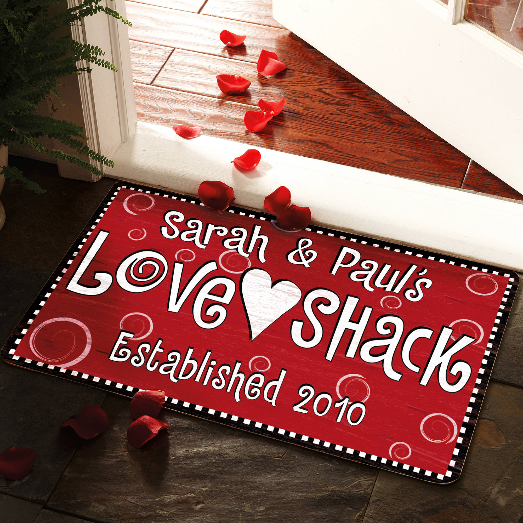 "Personalized ""Love Shack"" Doormat Available in Different Sizes"
