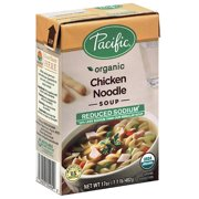 Pacific Organic Reduced Sodium Chicken Noodle Soup, 17 oz, (Pack of 12)