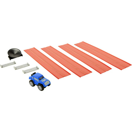 Hauler Truck - Max Tow Mini Haulers Tow and Track Packs, Blue Crawler Truck with Track Pieces