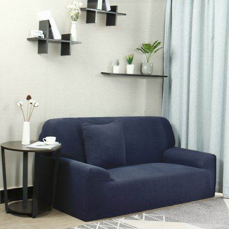 Swell Jacquard Sofa Covers 1 Piece 1 2 3 4 Seaters Couch Cover Home Furniture Protector Navy Blue 76 90 Pabps2019 Chair Design Images Pabps2019Com