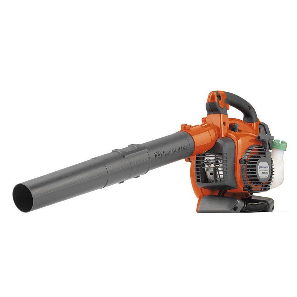 Jeobest Husqvarna 125BVx 28cc 2-Cycle Gas Leaf Blower Vacuum (Certified Refurbished)