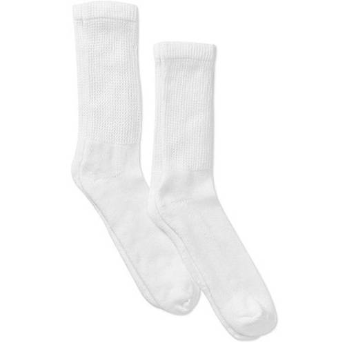DR Scholl's Big and Tall Men's Diabetic Crew Socks, 2 Pack