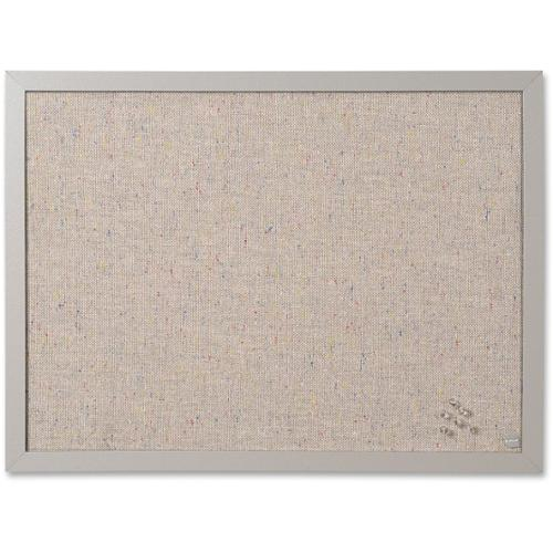 """MasterVision Fabric Bulletin Board - 18"""" Height x 24"""" Width - Gray Fabric Surface - 1 Each"""