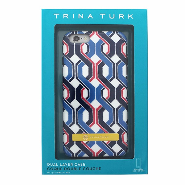Trina Turk Dual Layer Case for iPhone 6 Plus 6S Plus Red White and Blue