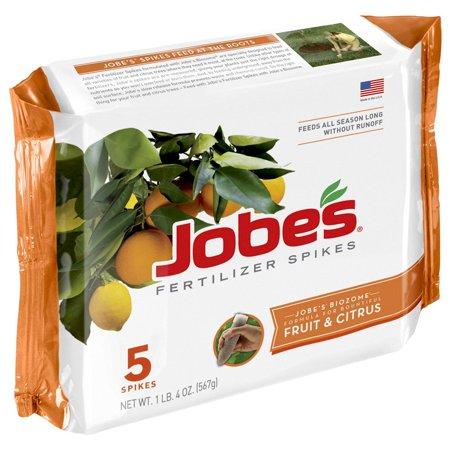 Evergreen Tree Spike (Jobe's Fruit & Citrus Fertilizer Spikes 9-12-12 Time Release Fertilizer for All Fruit Trees, 5 Spikes per Package, Pre-measured evergreen fertilizer spikes.., By Jobes)