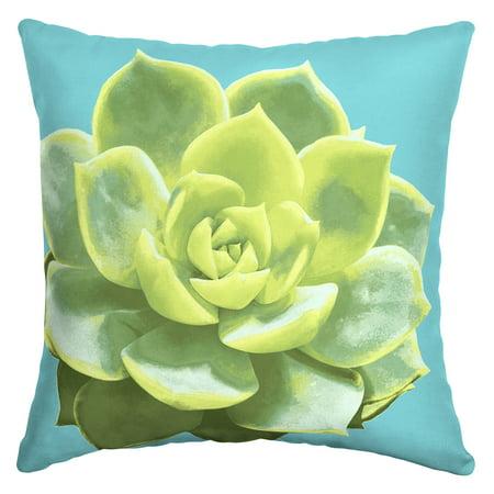 Mainstays 16 Inch Succulent Toss Pillow Walmart Com