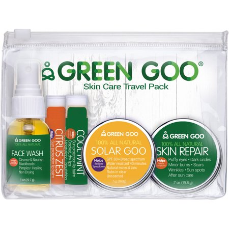 Skin Care Travel Pack - Green Goo Skin Care Travel Pack, 5 pc