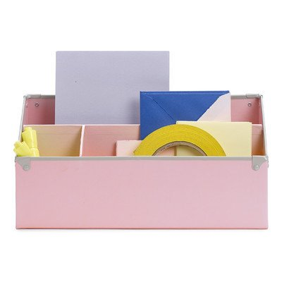 Design Ideas Frisco Paperboard Desk Organizer, Pink - Desk Ideas