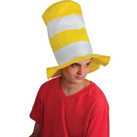 (Price/Each)US TOY KD10-44 Yellow and White Striped Stove Pipe Top Hat