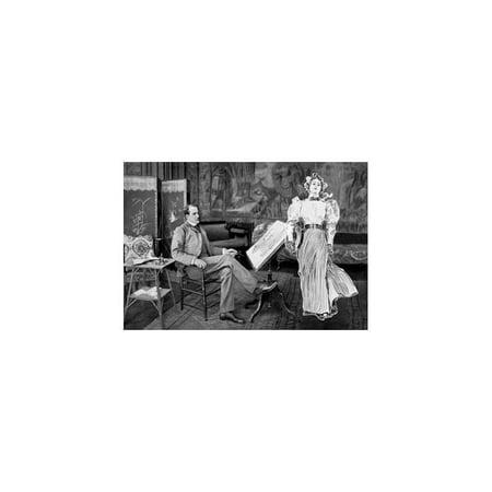 Charles Dana Gibson In His Studio  New York City Print  Unframed Paper Print 20X30
