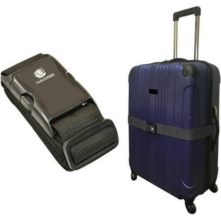 Us Luggage Smart Strap (Nylon Luggage Strap, Black)