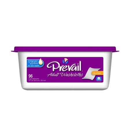 Prevail Premium Cotton Washcloth Tub ''12 x 8 , 96 Count'' 10 Pack