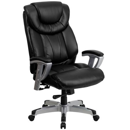 Flash Furniture Hercules Series 400 Lb Capacity And Tall Black Leather Executive Swivel Office Chair With Height Width Adjule Arms