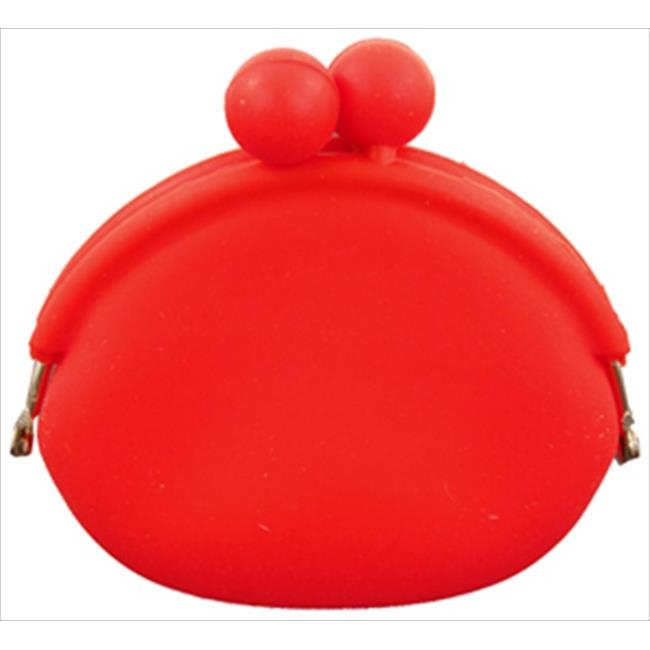 Catherine Lillywhite GC1097RD 3. 5 inch Red Silicone Coin Purse