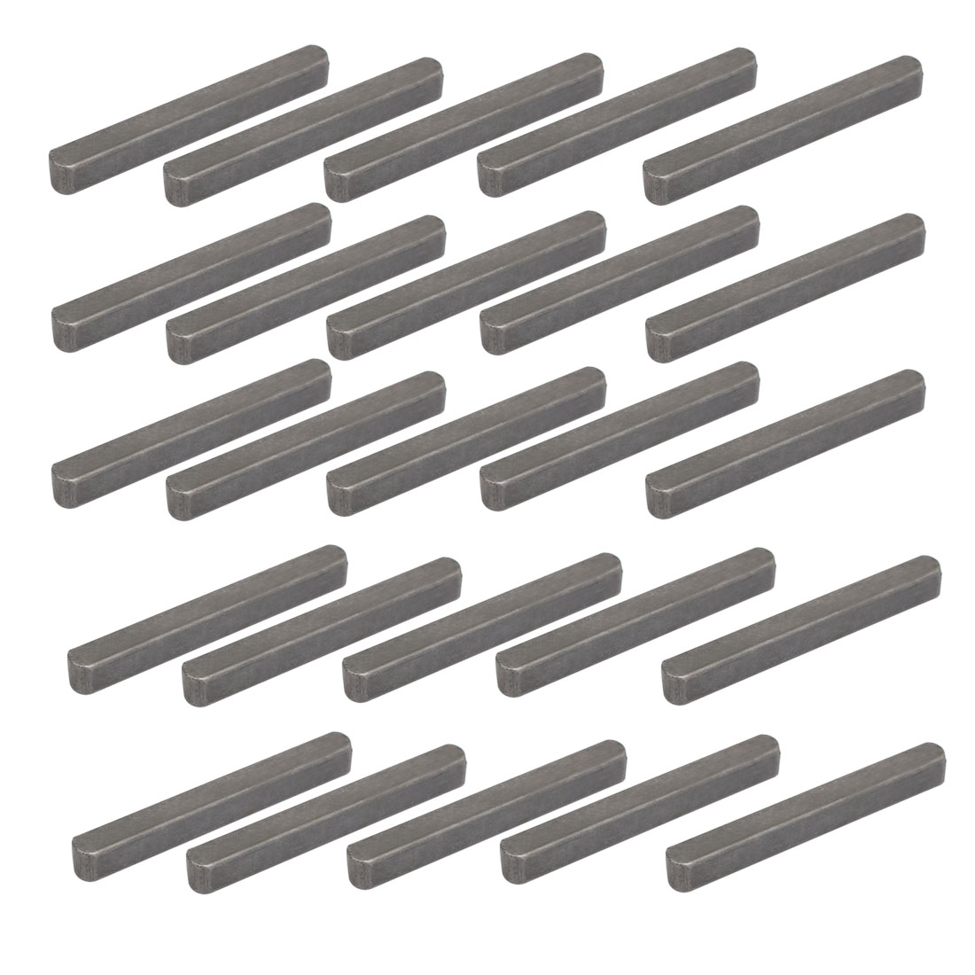 Unique Bargains 55mmx6mmx6mm Carbon Steel Key Stock To Lock Pulleys 25pcs - image 1 of 3