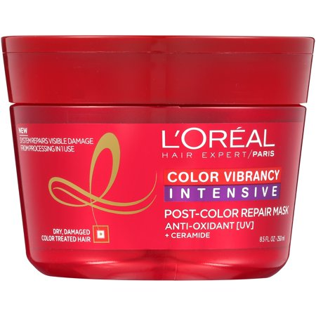 Hair Recovery - L'Oreal Paris Hair Expert Color Vibrancy Intensive Ultra Recovery Mask, Color Treated Hair, 8.5 Fl Oz