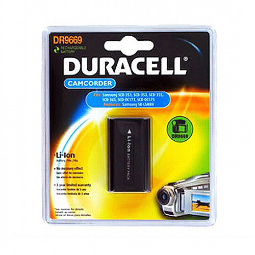 Duracell DR9669 Camcorder Battery for Samsung SCD-351 353 354 453 455 457 557 SB-LSM80