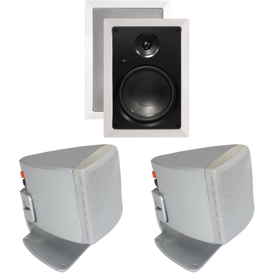 "ArchiTech AP-802 8"" 2-Way Rectangular In-Wall Loudspeakers and Bonus Speakers"