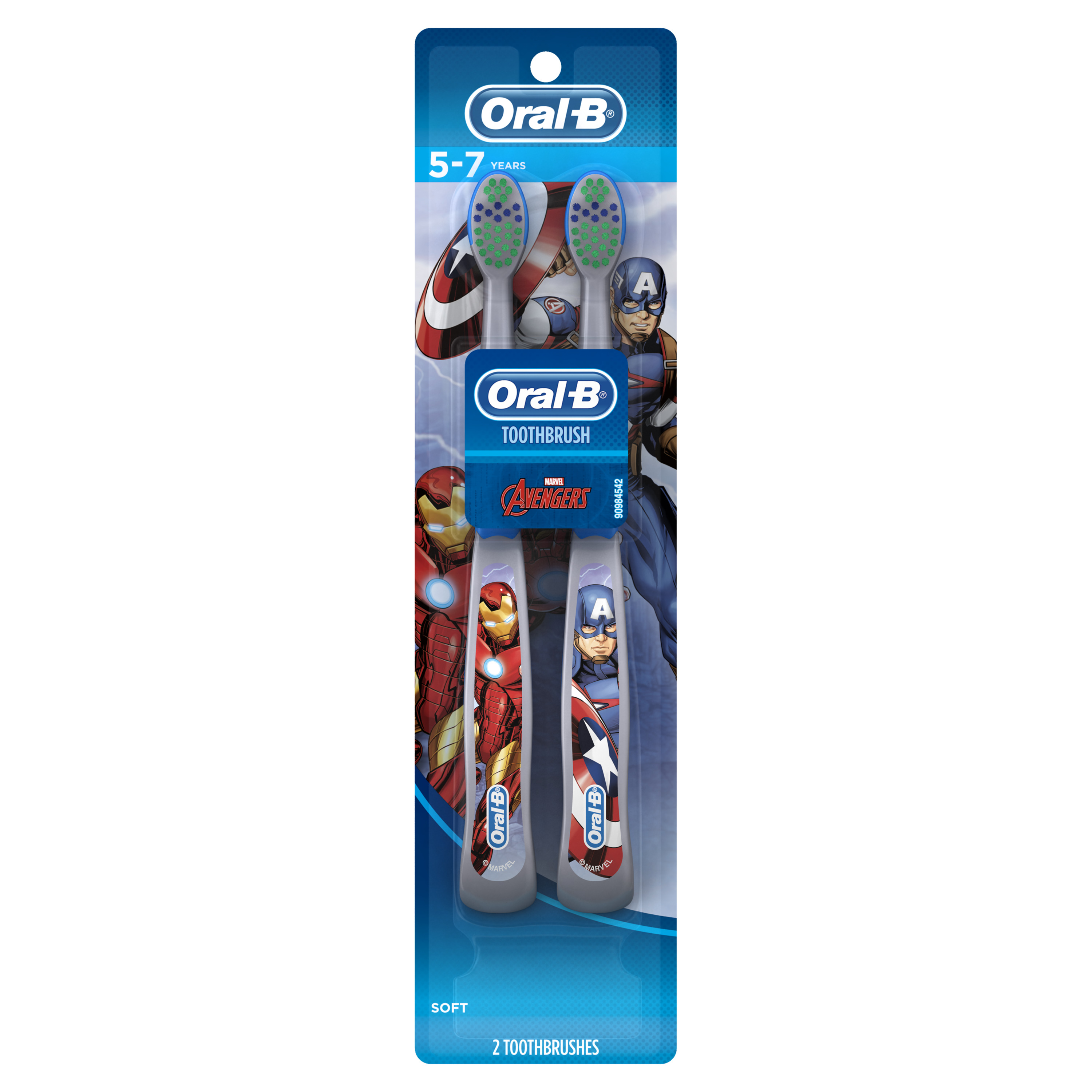 Oral-B Kid's Manual Toothbrush featuring Marvel's Avengers, 2 count
