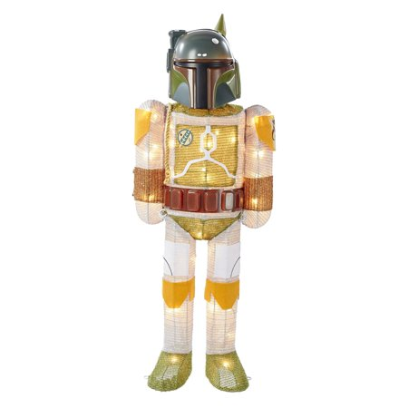 Kurt Adler 28 Inch Star Wars Boba Fett Lighted Tinsel Dcor