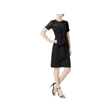 Womens Bow Front Dress (Fame And Partners Womens Mesh Yoke Bow Front Special Occasion)