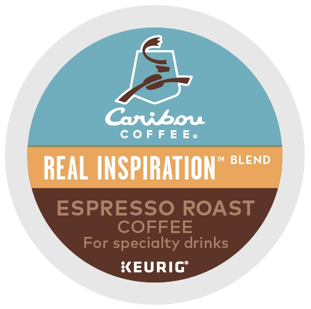 (2 Pack) Caribou Coffee Real Inspiration Espresso Roast, Keurig K-Cup Pods, Medium Roast, 6 Count