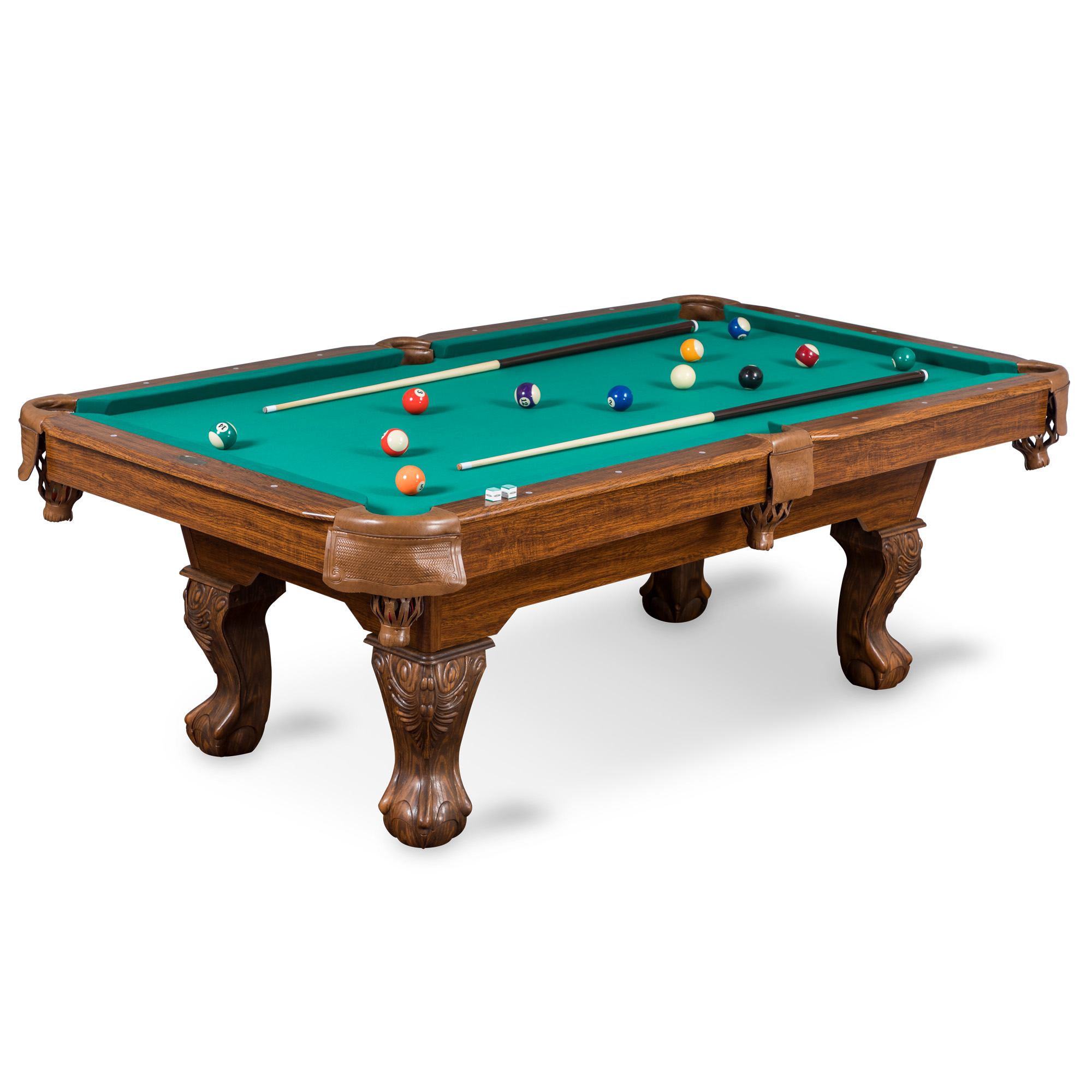 Classic Sport 87-inch (7ft. 3 in.) Brighton Billiard Table, Green